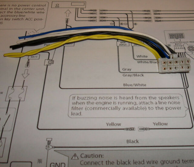 kenwood sub amp wiring harness colors kenwood subwoofer amp ksc wa100 wa80 sw10 10 pin harness for sale  kenwood subwoofer amp ksc wa100 wa80