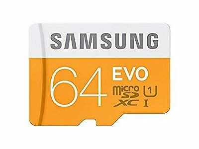 Samsung 64GB EVO Micro SD Card Class 10 Memory Card Trasfer speed up to 100mb/s