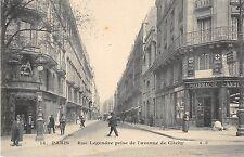 CPA 75 PARIS XVIIe RUE LEGENDRE PRISE DE L'AVENUE DE CLICHY (cliché pas courant