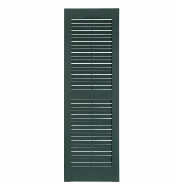 Severe Weather 2-Pack Bordeaux Louvered Vinyl Exterior Shutters 15-in x 63-in