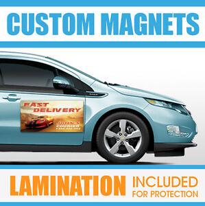 X Custom Car Magnets Magnetic Auto Car Truck Signs QTY EBay - Custom car door magnet signs