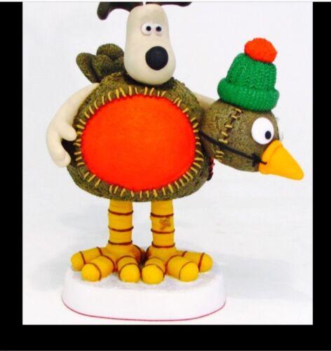 Robert Harrop Wallace And Gromit Robin redbreast Christmas figure