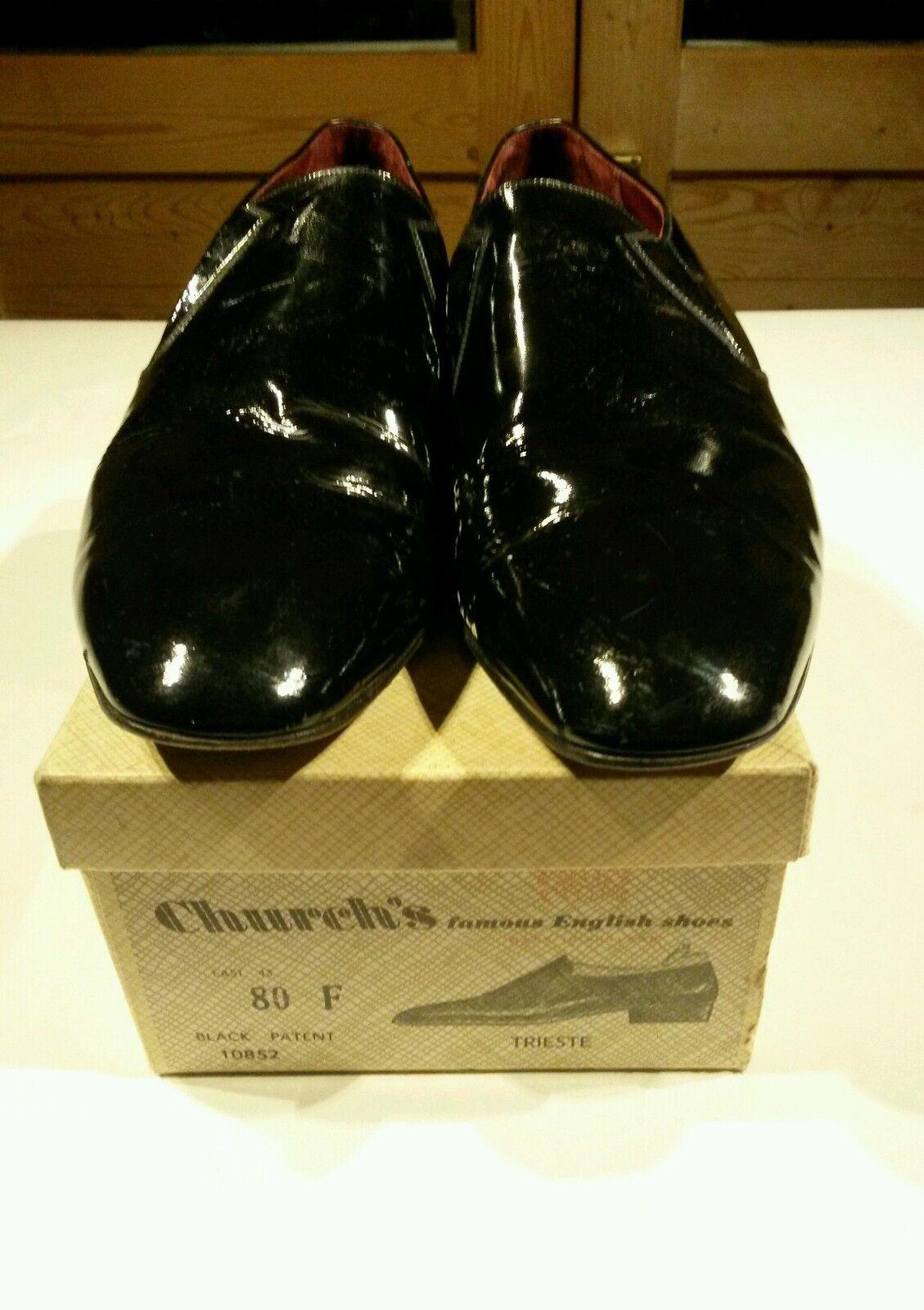 Magnifique authentique années 1960 church's chaussures 7009 43 derniers 80 f modèle trieste orig box