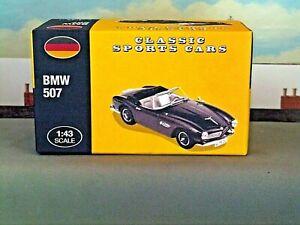 ATLAS-Editions-1-43-BMW507-LHD-Open-Cabrio-Nero-Auto-Sportive-Classiche