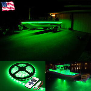 Merveilleux Details About Green Wireless Car Boat LED Strips Interior Accent Lights Kit  Waterproof Bright