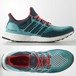Details zu adidas Ultra Boost 2.0 Mens Green Red Running Shoes AQ4005 UltraBOOST ~ SIZE 7.5