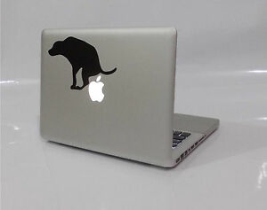 Details About New Funny Dog Poo Crap On Apple Logo Macbook Removable Vinyl Sticker Decal