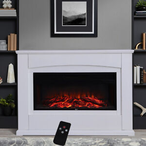 Large Adjustable Electric Fireplace Heater Wall Corner Led