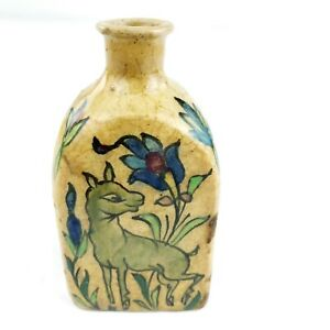 Antique-Middle-Eastern-Islamic-Painted-Jar-Glazed-Ceramic-Pottery