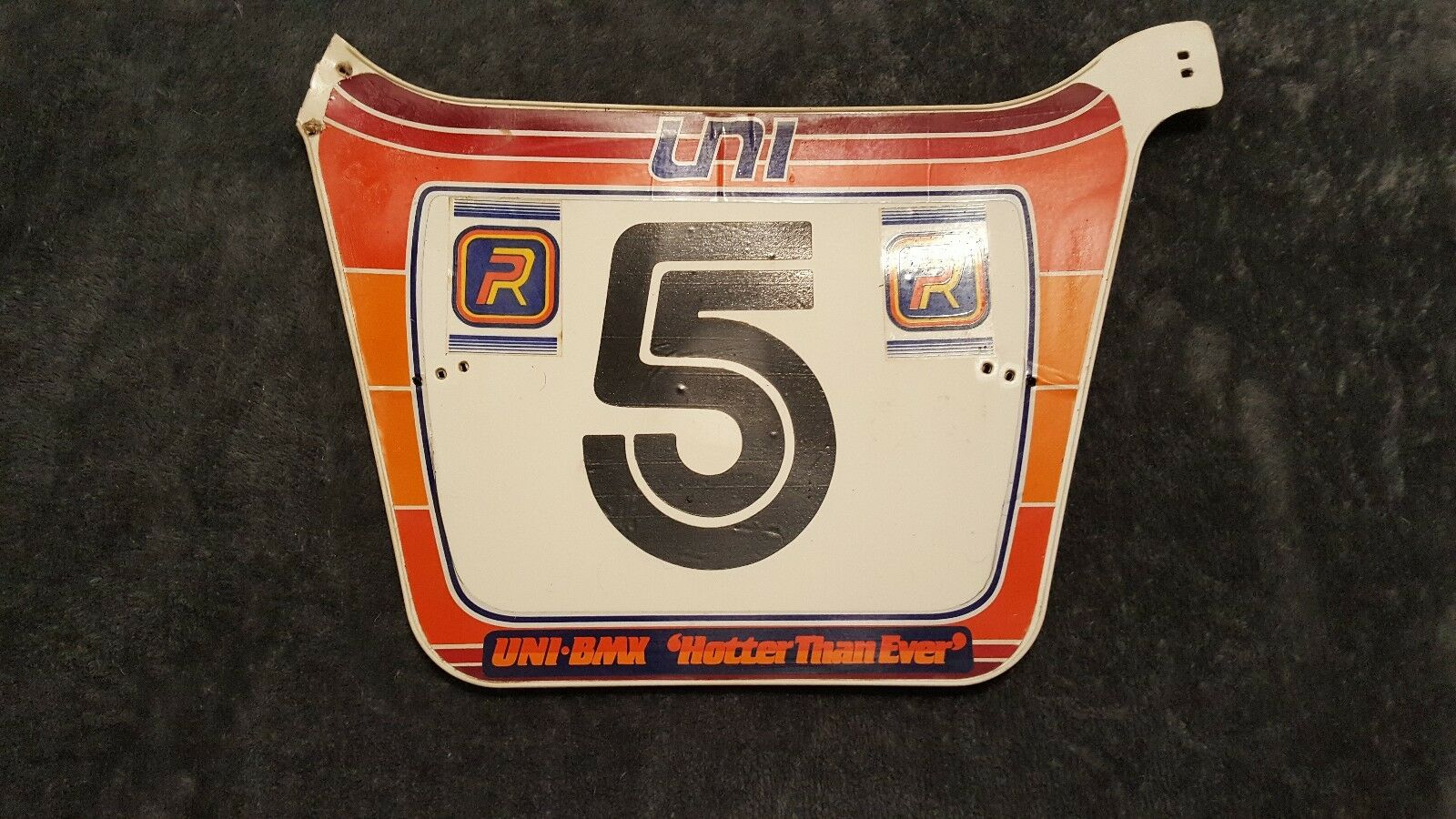 OLD SCHOOL BMX 1982 UNI HOTTER THAN EVER  PATTERSON NUMBER PLATE VINTAGE RARE HTF  fashion mall