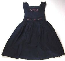 Toddler Girl 4T Navy Blue Embroidered Dress Bonnie Jean
