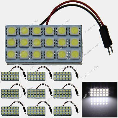 10pcs White 18 5050 LED Festoon Dome/Door/Box Light Panel Interior Bulb J005