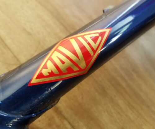 REPRODUCTION Vintage Logo Mavic 1973 Vélo Autocollant decal jantes moyeu composants
