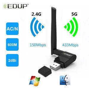 USB-WiFi-Adapter-802-11ac-2-4GHz-1635-Network-5Ghz-EDUP-Wireless-600Mbps-AC600