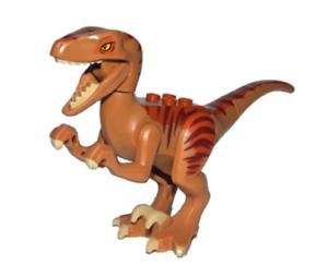 Lego Raptor - Velociraptor Dark orange 5887 Jurassic värld Dinosauri Autentic