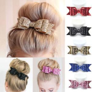 Shiny-Glitter-Bow-Baby-Kids-Hair-Clips-Headwear-Girls-Hair-Bow-Accessories-NE