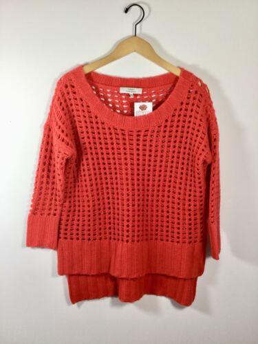Small Red Robert Kashmir Træk X Uld Rodriguez Strikket Størrelse Sweater Open 6nqvwOga