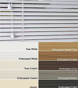Faux Wood Made To Measure Venetian Blinds 50mm 35mm 11 Colours Ebay