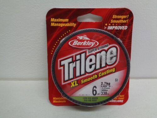 Berkley Trilene 6 lb XL Smooth Casting Low Vis Vert nouvelle ligne de pêche environ 301.75 m 330 yd environ 2.72 kg
