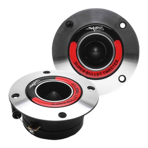 NEW SKAR AUDIO VX175-ST 1.75-INCH 400 WATT ALUMINUM BULLET SUPER TWEETERS PAIR