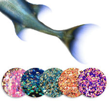 5bags Nails Sequins Glitter Scales Tips 3D Shining Nail Art Manicure Decoration