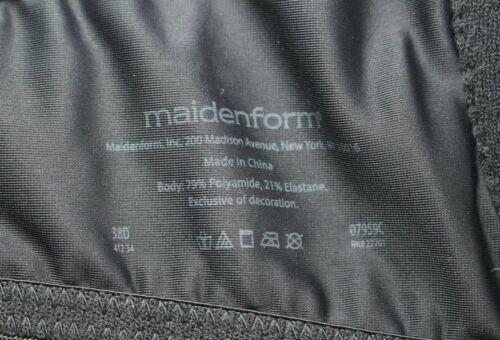 MAIDENFORM Underwired T SHIRT BRA Multi-Way BLACK Lightly Padded Demi 34 B C D