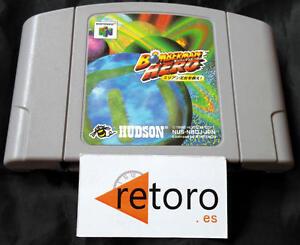 BOMBERMAN-HERO-NINTENDO-64-N64-Cartucho-Japones-Funcionando-Hudson-Soft