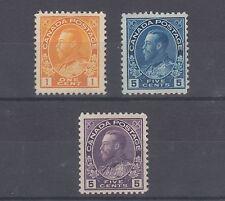 Canada Sc 105/112 MNG. 1911-1922 Admirals, 3 diff