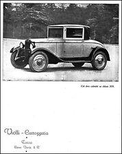 PUBBLICITA' CARROZZERIA VIOTTI TORINO CAB FINTO CABRIOLET SU CHASSIS FIAT 509 27