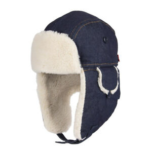 8ee1a795dab Levi s Sherpa Wool-Blend Lined Washed Denim Trapper Hat - S M
