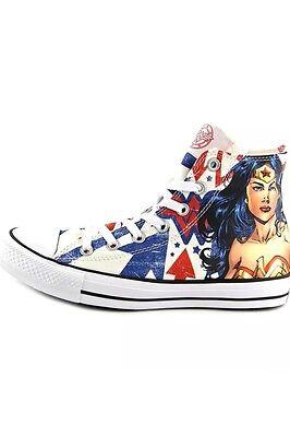 146143778646  RARE  Wonder Woman Converse Shoes DC Comics Men s 4 Women s 6 ...