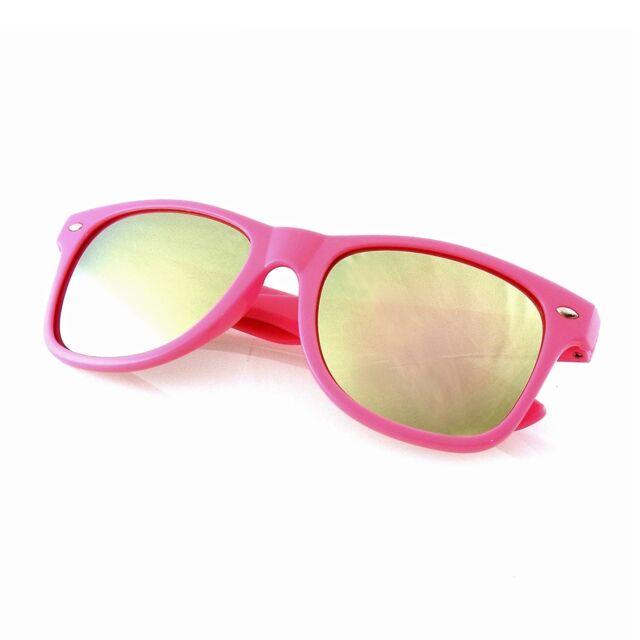 8ca632b1a670 Revo Flash Color Mirror Reflective Lens Neon Wayfarer Sunglasses ...