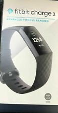 New Fitbit Charge 3 Fitness Activity Tracker - Touchscreen, Swim Proof,Black