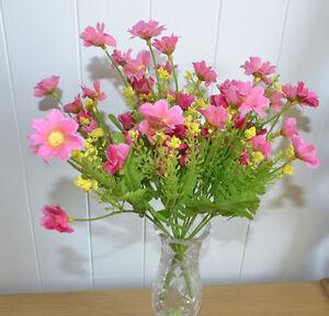12x-Bouquet-de-Fleurs-Artificiel-Rose