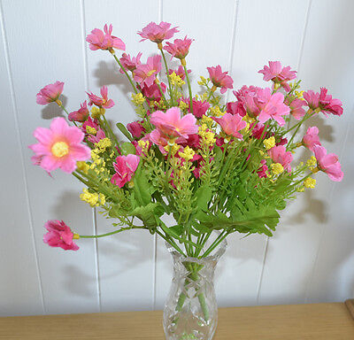 12x Flower Bouquet Artificial Flowers Artificial Flowers Pink Artificial Flowers Ebay