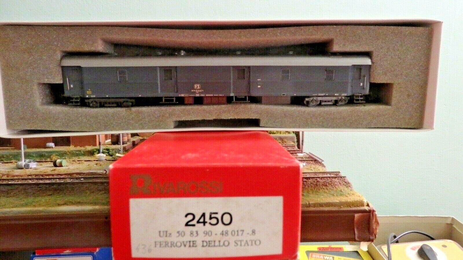 Rivarossi italia 2450 POSTALE UIz 1400 TIPO '49 Grigio ardesia, grate. FS