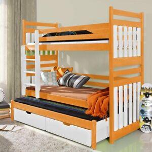 Wooden Bunk Bed Frame Child Kids High Cabin Sleeper Fire ...
