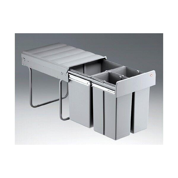Einbau Mülleimer Abfallsammler 40 Liter 3 fach (versch. Ausführungen Zubehör)