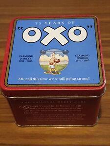 Vintage British Advertising Food Tin - OXO - 75 Years of Oxo - Diamond Jubilee