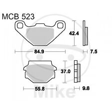 Kymco Agility 125 R16 City Plus  BJ 2014 - 9 PS, 6,6 kw - Lucas Std. Bremsklötze