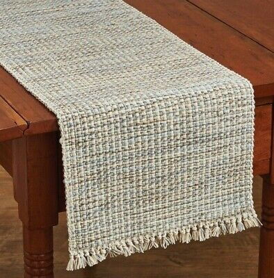 """Brown 36/"""" /& 54/"""" French Country Farmhouse Table Runner Plaid Ivory Tan"""