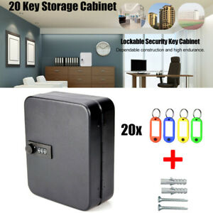 Combination-Lock-Metal-Key-Storage-Cabinet-Wall-Mounted-Lockable-Safe-Box-20-Tag