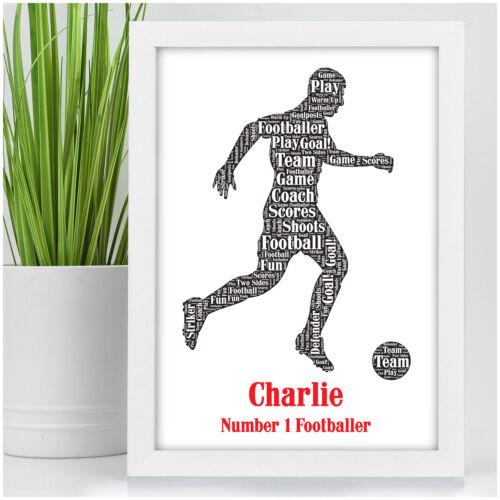 Personnalisé Cadeaux D/'anniversaire Pour Garçons fils lui mâle footballeur football cadeau
