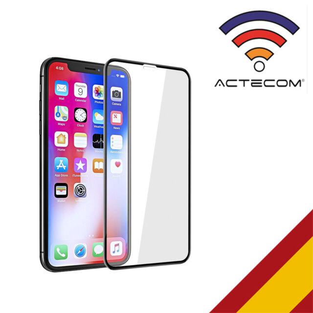 ACTECOM® PROTECTOR PANTALLA COMPLETA 3D 5D NEGRO CRISTAL TEMPLADO PARA IPHONE X