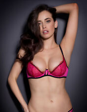 Agent Provocateur MEGAN BRA in HOT PINK & RED LACE - 32B - BNWT