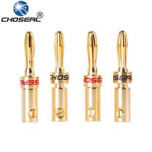 4pcs-lot-Banana-Stecker-Do-it-yourself-Lautsprecherkabel-Stecker-24k-vergoldete-Schrauben