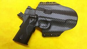 Details about HOLSTER BLACK KYDEX FITS Kimber Tactical Custom II OWB  Outside Waistband