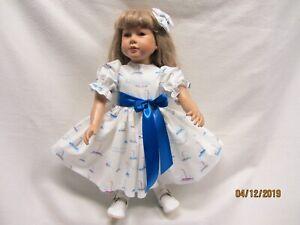 """SNOWMEN AND PRESENTS dress fits 23/"""" My Twinn doll /& matching bow barrette"""