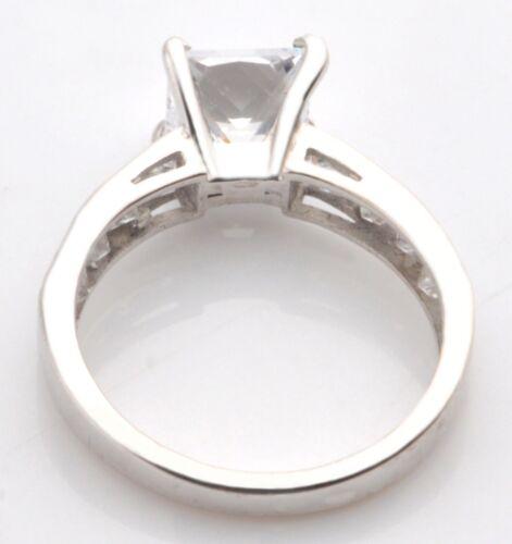 Echt 585er Weißgold 2,50Kt Atemberaubend Prinzessin Form Solitär Verlobung Ring