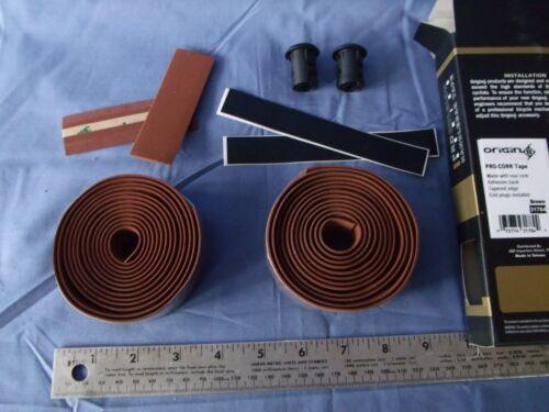 Bicycle Handlebar Grip Tape Cork Self Adhesive Origin8 Road Bar Ends MANY COLORS